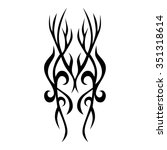 tattoo tribal vector design.... | Shutterstock .eps vector #351318614