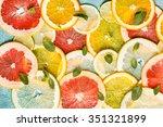 citrus slices | Shutterstock . vector #351321899