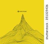 abstract vector landscape... | Shutterstock .eps vector #351325436