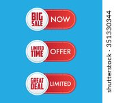 set of great deal stamp labels | Shutterstock .eps vector #351330344
