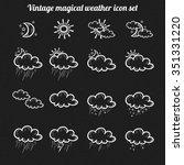 vector vintage weather icon set | Shutterstock .eps vector #351331220