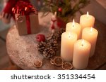 christmas decorations interiors ... | Shutterstock . vector #351334454