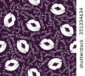 joyful vector seamless pattern... | Shutterstock .eps vector #351334634