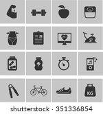 fitness icon set | Shutterstock .eps vector #351336854