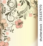 vintage invitation card with... | Shutterstock .eps vector #351337970
