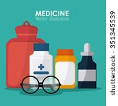 medical care concept with... | Shutterstock .eps vector #351345539
