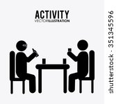 activity concept with pictogram ... | Shutterstock .eps vector #351345596