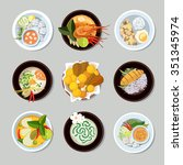 thai food icons | Shutterstock . vector #351345974