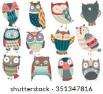 Cute Colorful Owl Friends...