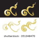 thai number nine vector | Shutterstock .eps vector #351348470