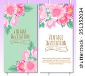 romantic invitation. wedding ... | Shutterstock . vector #351352034