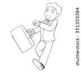 vector illustration of a man in ... | Shutterstock .eps vector #351353384