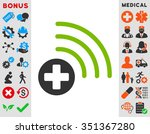 medical source vector icon.... | Shutterstock .eps vector #351367280