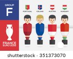 players with flags of european... | Shutterstock .eps vector #351373070