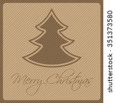 vector christmas card with tree ... | Shutterstock .eps vector #351373580