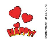 freehand drawn happy symbol | Shutterstock .eps vector #351377273