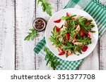 chicken salad with arugula and... | Shutterstock . vector #351377708