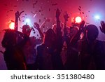 young people dancing in night... | Shutterstock . vector #351380480