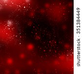 red background with circle bokeh | Shutterstock . vector #351384449