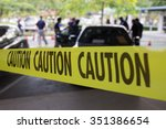 crime scene protect by caution...