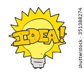 freehand drawn cartoon idea... | Shutterstock .eps vector #351388274