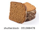 sliced of rye bread  isolated... | Shutterstock . vector #351388478