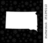 map of south dakota | Shutterstock .eps vector #351390113