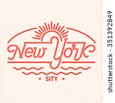 New York City Typography Line...
