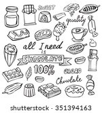 vector cocoa and chocolate icon ...   Shutterstock .eps vector #351394163