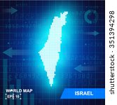 map of israel abstract... | Shutterstock .eps vector #351394298