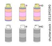 vector aerosol set   spray... | Shutterstock .eps vector #351395390