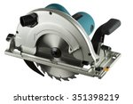 circular saw isolated on a white background.
