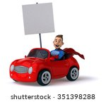 fun superhero | Shutterstock . vector #351398288