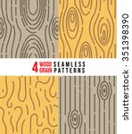 wood grain patterns | Shutterstock .eps vector #351398390