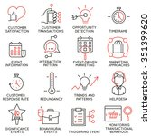 vector set of 16 icons related... | Shutterstock .eps vector #351399620