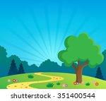 spring topic scenery 1   eps10... | Shutterstock .eps vector #351400544