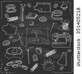 Hand Drawn Vector Sewing Set ...