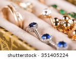 Box With Jewelery. Rings And...