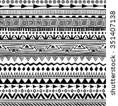 seamless hand drawn aztec... | Shutterstock .eps vector #351407138