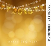 happy new year 2016 card with... | Shutterstock .eps vector #351407780