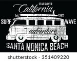 star surfer   surf bus  vector...