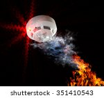 fire alarm will be triggered. | Shutterstock . vector #351410543
