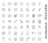 office icon set.   Shutterstock .eps vector #351411836