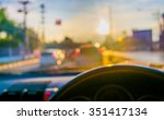Blur Image Of Inside Car With...