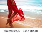 woman at the beach | Shutterstock . vector #351418658