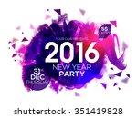 elegant party invitation card... | Shutterstock .eps vector #351419828