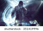 dj with turntables | Shutterstock . vector #351419996