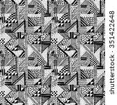 geometric abstract illustration ... | Shutterstock .eps vector #351422648
