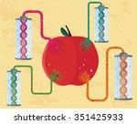 gmo concept of  genetically...   Shutterstock .eps vector #351425933