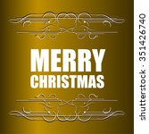 merry christmas message and... | Shutterstock .eps vector #351426740